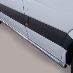 Side Bars 63mm Stainless Mach for Mercedes Sprinter Mk3/4 (07 on)