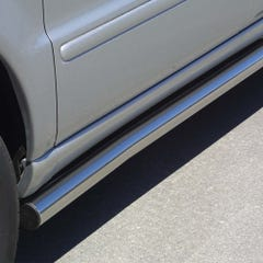 Pair of Stainless Steel 76mm Side Bars Mercedes M-Class Mk2 (2001 Onwards)