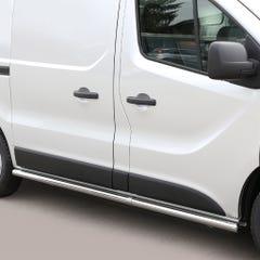Side Bars 76mm Stainless Mach for Vauxhall Vivaro Mk3 (2014 on)