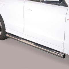 Pair of Stainless Steel 76mm Side Bars Audi Q5 (2011 Onwards)