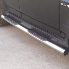 Pair of Black 76mm Side Bars with Steps BMW X3 Mk1 (2004 Onwards)