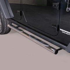 Pair of Side Bars 76mm Stainless Mach for Jeep Wrangler (2007 on)