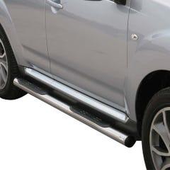 Pair of Stainless Steel 76mm Side Bars with Steps Citroen C-Crosser (2007 Onwards)