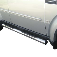 Pair of Side Bars with Steps 76mm Stainless Mach for Dodge Nitro Mk1 (07 on)