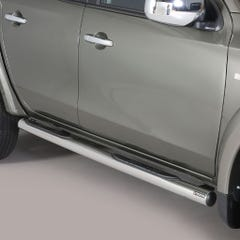 Side Bars with Step 76mm Stainless Mach for Fiat Fullback Mk1 (16 on) DC