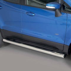 Pair of Side Bars with Step 76mm Stainless Mach for Ford Ecosport Mk1 (14on)