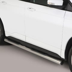 Pair of Stainless Steel 76mm Side Bars with Steps Ford Edge (2016 Onwards)