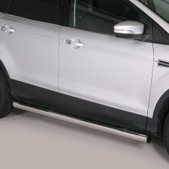 Pair of Side Bars with Step 76mm Stainless Mach for Ford Kuga Mk2 (13 on)