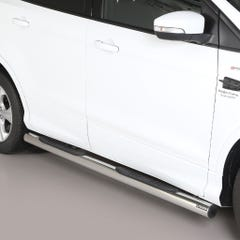 Pair of Stainless Steel 76mm Side Bars with Steps Ford Kuga Mk3 (2017 Onwards)