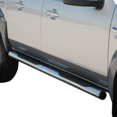Side Bars with Step 76mm Stainless Mach for Ford Ranger Mk3-4 and BT-50 (06-12)