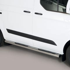 Pair of Side Bars with Steps 76mm Ford Transit Custom (2012 Onwards) SWB