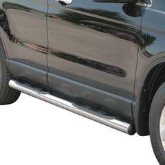 Pair of Stainless Steel 76mm Side Bars with Steps Honda CR-V Mk4 (2007 Onwards)