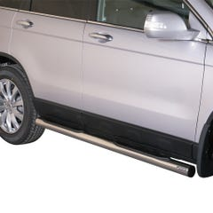 Pair of Side Bars with Step 76mm Stainless Mach for Honda CRV (10-12)