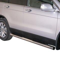 Pair of Stainless Steel 76mm Side Bars with Steps Honda CR-V Mk5 (2010 - 2012)