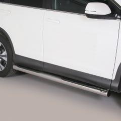 Pair of Side Bars with Step 76mm Stainless Mach Honda CRV Mk6 (2013 Onwards)