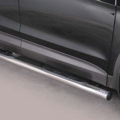 Pair of Stainless Steel 76mm Side Bars with Steps Hyundai Santa Fe Mk5 (2012 Onwards)