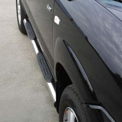 Pair of Stainless Steel 76mm Side Bars with Steps Hyundai Tucson Mk1 (2004 - 2014)
