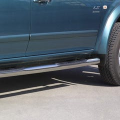 Side Bars with Steps 76mm Stainless Mach for Isuzu Rodeo/D-Max Mk1-2 (03 on)