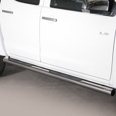 Pair of Stainless Steel 76mm Side Bars with Steps Isuzu D-Max Mk4-5 (2012 - 2020)