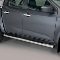 Side Bars with Steps (76mm) Isuzu D-Max Mk6 (2021 Onwards) Double Cab, Stainless Steel