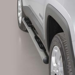 Pair of Stainless Steel 76mm Side Bars with Steps Jeep Renegade Mk2 (2018 Onwards)