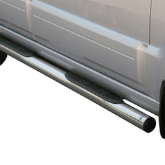 Pair of Stainless Steel 76mm Side Bars with Steps Kia Sorento Mk2 (2006 - 2009)