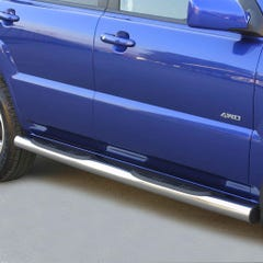 Pair of Stainless Steel 76mm Side Bars with Steps Kia Sportage Mk3 (2005 Onwards)