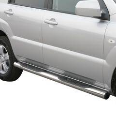 Pair of Side Bars with Steps 76mm Stainless Mach for Kia Sportage Mk4 (08-10)