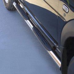 Pair of Stainless Steel 76mm Side Bars with Steps Land Rover Freelander Mk1-3 (1997 Onwards)