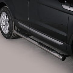 Pair of Side Bars with Steps 76mm Stainless Mach Range Rover Evoque Mk1 (11 on)