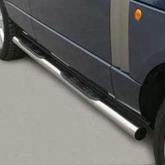 Pair of Side Bars with Steps 76mm SS Mach for Land Rover Range Rover Mk3 (02 on)