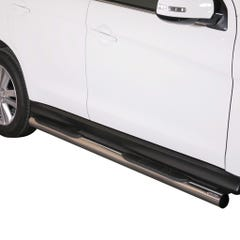 Pair of Side Bars with Steps 76mm Stainless Mach Mitsubishi ASX Mk1-2 (10 on)