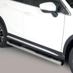 Pair of Stainless Steel 76mm Side Bars with Steps Mitsubishi Eclipse (2018 Onwards)