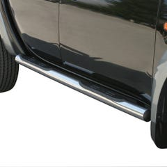 Pair of Stainless Steel 76mm Side Bars with Steps Mitsubishi L200 Mk6 (2006 - 2009)
