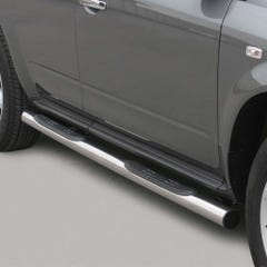 Pair of Side Bars with Steps 76mm SS Mach for Nissan Murano Mk1 (05 on)
