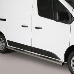 Pair of Stainless Steel 76mm Side Bars with Steps Nissan NV300 (2016 Onwards)
