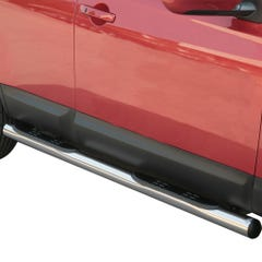 Pair of Stainless Steel 76mm Side Bars with Steps Nissan Qashqai Mk1 (2007 - 2009)