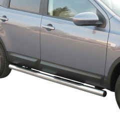 Pair of Side Bars with Steps 76mm Stainless Mach for Nissan Qashqai+2 (08 on)
