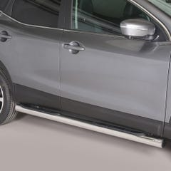 Pair of Stainless Steel 76mm Side Bars with Steps Nissan Qashqai Mk3 (2014 Onwards)