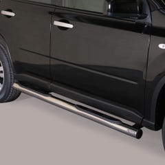 Pair of Stainless Side Bars with Steps 76mm for Nissan X-Trail Mk4 (11-14)