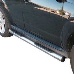 Pair of Side Bars with Step 76mm Stainless Mach for Peugeot 4007 (07 on)