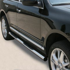 Pair of Side Bars with Steps 76mm Stainless Mach for Porsche Cayenne (03 on)