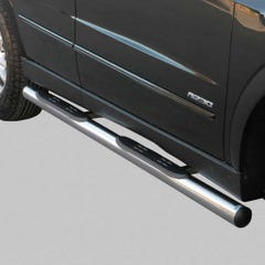 Pair of Stainless Steel 76mm Side Bars with Steps SsangYong Actyon Sports (2007 Onwards)