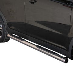 Pair of Stainless Steel 76mm Side Bars with Steps SsangYong Korando (2011 Onwards)