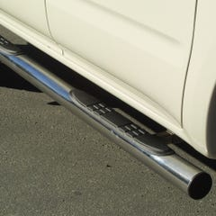 Side Bars with Steps 76mm Stainless Mach for Toyota Hilux (01-05) Double Cab