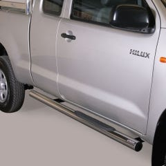 Pair of Side Bars 76mm Stainless Mach for Toyota Hilux (2011 on) Extra Cab