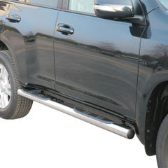 Pair of Side Bars with Steps 76mm SS Mach LC3-5/LC150 5 Door Mk2 (14on)