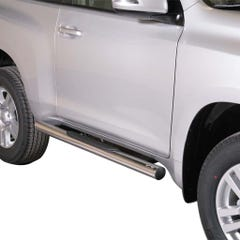Pair of Side Bars with Steps 76mm SS Mach for Toyota LC150 3 Door Mk2 14on