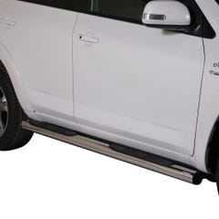 Pair of Side Bars with Steps 76mm Stainless Mach Rav4 Mk7-8 (13 on)