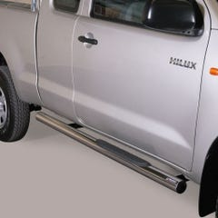 Pair of Side Bars with Steps 76mm SS Mach for Toyota Hilux Mk6 / Vigo